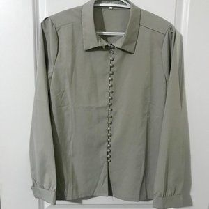 Gray Buttoned Down Shirt